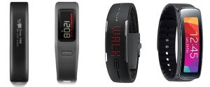 fitness tracker displays