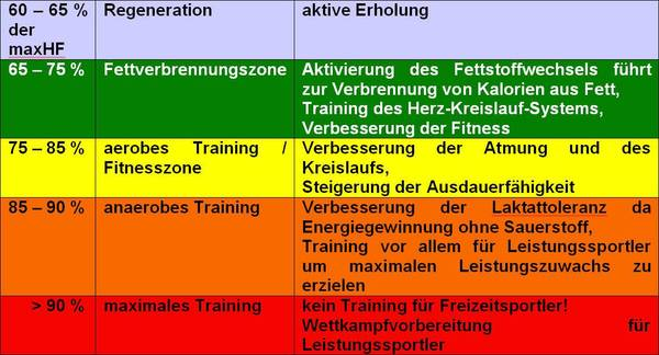 aerobes training fettverbrennung